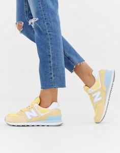 Желтые кроссовки New Balance 574 V2 - Желтый