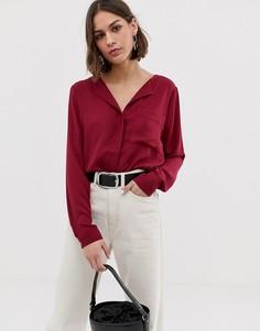 Рубашка с отложным воротником Selected Dynella - Красный