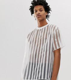 Oversize-футболка в полоску Milk It Vintage - Белый