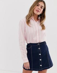 Рубашка бойфренда в полоску Jack Wills - Розовый