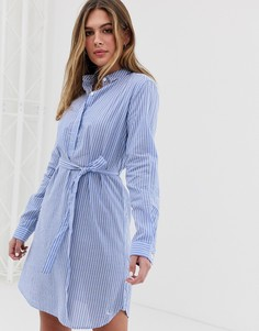Платье-рубашка в полоску на пуговицах Jack Wills Chelseawood - Синий