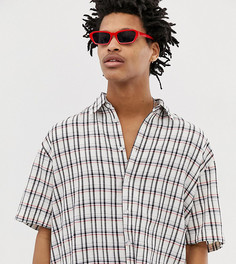 Oversize-рубашка в клетку из комплекта Milk It Vintage - Белый