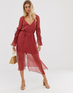 Платье миди Stevie May - Stella - Красный