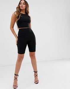 Черные комбинируемые шорты-леггинсы Vesper - Черный