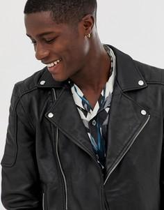 Стеганая куртка из натуральной кожи Bolongaro Trevor - Черный
