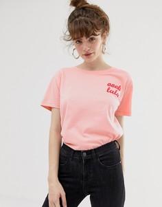 Футболка с принтом Blend She - Розовый