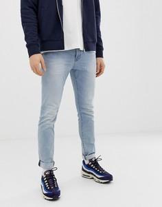 Голубые джинсы скинни с заниженной талией Esprit - Синий