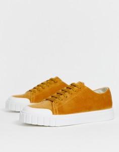Светло-коричневые вельветовые кроссовки ASOS DESIGN Dismiss - Рыжий