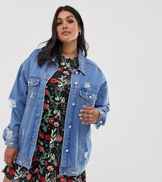 Синяя джинсовая oversize-куртка Missguided Plus - Синий