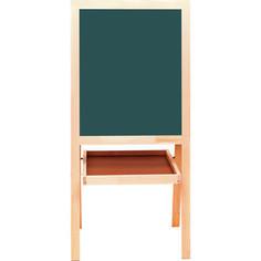 Доска-мольберт BRAUBERG 235519 двусторонняя зеленая/белая, магнитно-маркерная/для мела 56x67