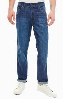 Прямые синие джинсы с декоративными заломами Texas Wrangler