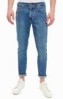 Зауженные синие джинсы с застежкой на молнию и болт Larston Wrangler