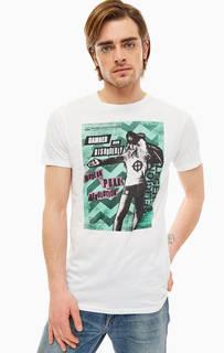 Белая хлопковая футболка с короткими рукавами Religion