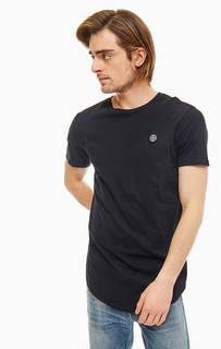 Черная хлопковая футболка с нашивками Religion