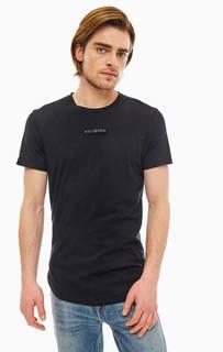 Черная хлопковая футболка с нашивкой Religion