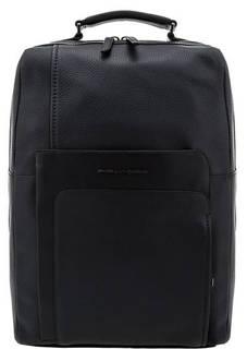 Рюкзак из натуральной кожи синего цвета Piquadro