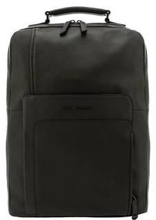 Рюкзак из натуральной кожи цвета хаки Piquadro