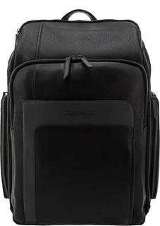 Вместительный кожаный рюкзак с карманами Piquadro