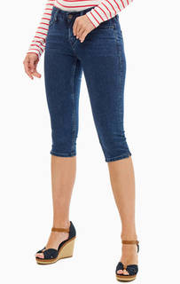 Синие джинсовые бриджи с застежкой на молнию и болт Mustang