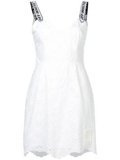 Off-White платье Sangallo с вышивкой