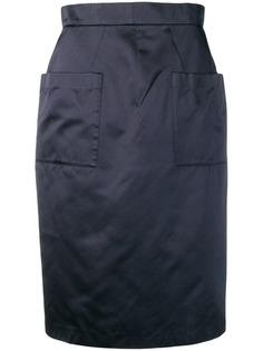 Prada Vintage юбка-карандаш 1990-х с карманами