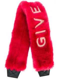 Givenchy пушистая накладка на лямку для сумки