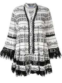 Blumarine короткое платье с кружевом