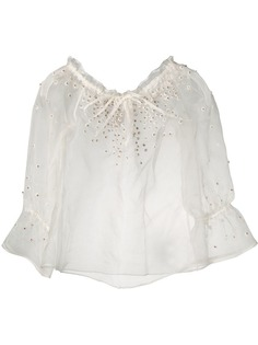 LAutre Chose декорированная блузка из органзы