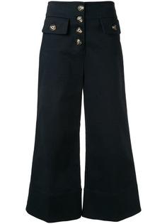 Self-Portrait укороченные брюки широкого кроя