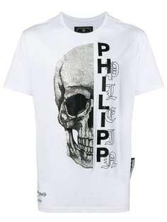 Philipp Plein футболка с принтом черепа