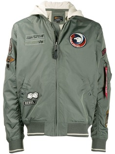 Alpha Industries patch detail bomber jacket