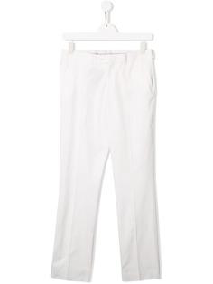 Isaia Kids брюки-чинос узкого кроя