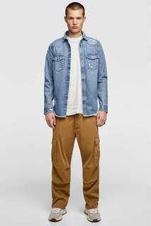 Джинсовая куртка рубашечного кроя с разрывами Zara