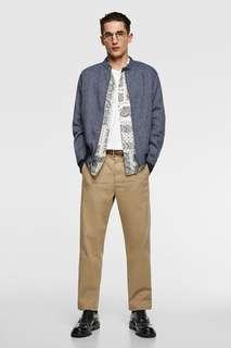 Льняная куртка в полоску Zara