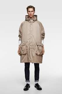 Парка в стиле oversize с капюшоном Zara