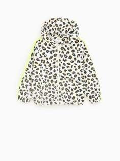 Толстовка с леопардовым принтом и полосами Zara