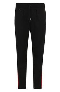 Шерстяные брюки прямого кроя с контрастными лампасами Ralph Lauren