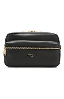 Кожаная поясная сумка Dolce & Gabbana