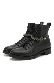 Кожаные ботинки Cruz Flat Jimmy Choo