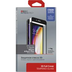 Защитное стекло для iPhone InterStep 3D Full Cover iPhone 8 Plus/7 Plus белое c аппл.