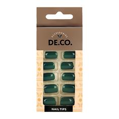 Набор накладных ногтей DE.CO. ESSENTIAL Emerald 24 шт + клеевые стикеры 24 шт Deco