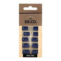 Набор накладных ногтей DE.CO. ESSENTIAL Indigo 24 шт + клеевые стикеры 24 шт Deco