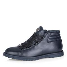 Ботинки Темно-синие ботинки на сплошной подошве Respect