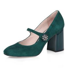 Зеленые лодочки Мэри Джейн на высоком каблуке Respect