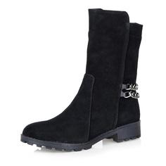 Ботинки Черные ботинки из велюра с декоративной цепочкой Respect