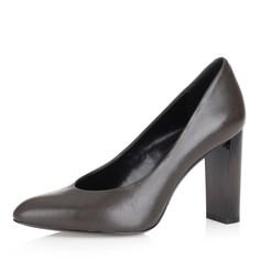 Туфли-лодочки цвета хаки на высоком плоском каблуке Respect