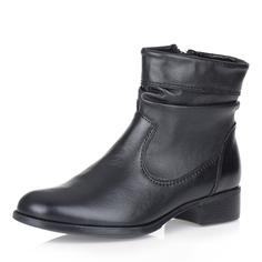 Высокие кожаные ботинки в черном цвете Respect