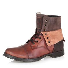 Ботинки Рыжие кожаные ботинки с отворотами Respect