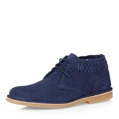 Ботинки из велюра в синем цвете Respect