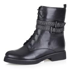 Высокие ботинки с декоративными ремешками Respect